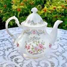 Royal Standard Mandarin Teapot Pastel Floral Motif with Gilt Trim