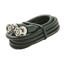 Eagle 6' FT BNC Coaxial Cable RG59 Black Male to Male Plug RG59 Nickel Plated