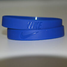 Wristband Silicone Wrist Band Rubber Bracelet Run Sport Basketball Blue Color