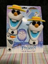 """""""Disney"""" - Frozen Olaf Boca Clips/Keeps Your Towels In Place!/5""""X 3""""clips!"""