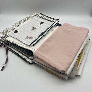 Large Bundle Of 15 Pillow Cases Patterned & Plain 100% Cotton Craft Material