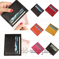Mens Womens Leather Small Wallet ID Credit Card Holder Purse Mini Pocket Case