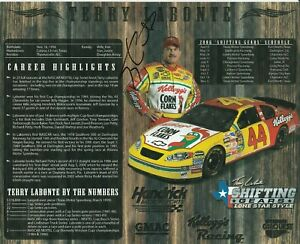 2006 TERRY LABONTE signed NASCAR PHOTO CARD POSTCARD KELLOGG'S wC vanity hero b