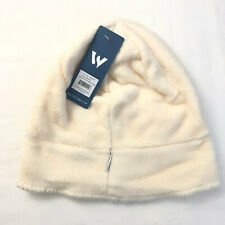 White Sierra Cozy Beanie Fleece Ivory Milky White One Size Unisex