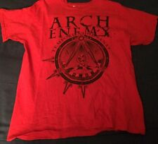 Used Red Black Size Large (L) Arch Enemy War Eternal Heavy Metal T-Shirt Shirt