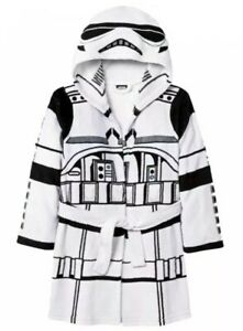 Star Wars Boys Child Size S Small Storm Trooper Hooded Fleece Robe Kids