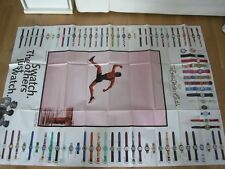 "ORIGINAL SWATCH RIESENPOSTER ""1994 / 95 FALL WINTER"" ALLE UHREN DER COLLECTION!!"