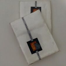 Matelasse White Pillow Shams Floral Roses Shabby Chic Standard Pair 2 From India