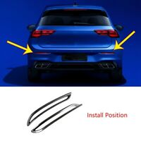 Car Rear Tail Fog Lights Strip Fog Light Lamps Cover Trim Styling for Golf8 U7C8