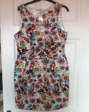 Brand New Lipsy Structured Printed Dress Size 14