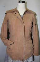 BERNARDO Women's Light Brown XS Genuine Soft Suede Leather Jacket $398