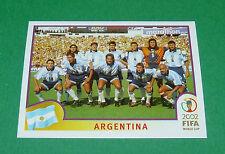 N°385 EQUIPE TEAM ARGENTINA PANINI FOOTBALL JAPAN KOREA 2002 COUPE MONDE FIFA