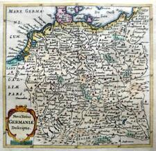 GERMANY  BY CLUVER / BERTIUS c1661 GENUINE 350 YEAR OLD ANTIQUE MAP
