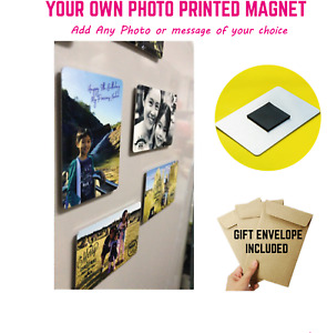 Personalised metal Photo Fridge Magnet Ideal Family Wife Dad Mum Valentines Gift