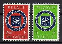 A7635) BELGIUM 1959 Scott# 531/32 MNH** NATO