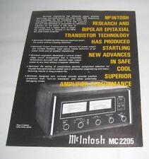 MC 2205 Power Amplifier McIntosh Performance Limits Brochure