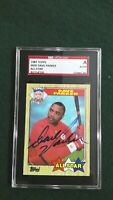 Dave Parker 1987 Topps #600 All-Star Signed Reds Autographed Authentic SGC