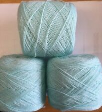 Lace yarn Crystal Color Aqua Acrylic /Rayon.900 yards per ball.1 lot of 3 Balls.