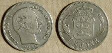 Denmark : 1875(h)HC CS KM# 797.1  VF+  IR181