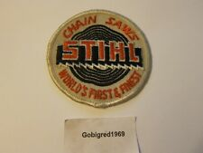 Vintage 1960s Stihl Sew On Patch Worlds Finest Chain Saw Trucker Hat More Listed