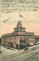 Elkhart Indiana 1907 Hotel Bucklen Postcard hand colored Mennonite 11320