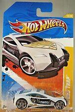2011 Hot Wheels #15 New Models 15/50 SPEED TRAP White Variant w/Chrome Pr5 Spoke