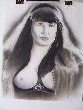 Original Pencil By Jeff Pittarelli Topless Xena Warrior Princess