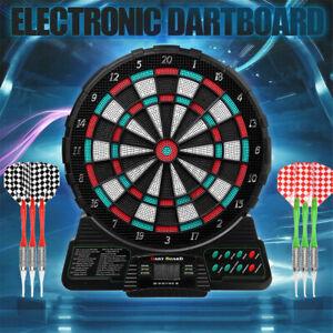 Profi Dartscheibe Dartboard Dartspiel E-Dart elektronisch Sound Soft Dartpfeile