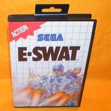 Vintage 1990 SEGA MASTER SYSTEM E-Swat Cartucho Video Juego de Acción Versión PAL