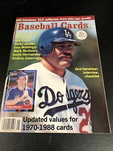 January  1989 Baseball Cards Magazine 6 Card Insert McGwire Clark Mattingly MINT