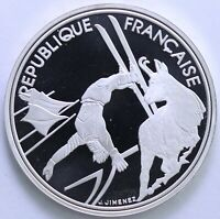 FRANCE 100 FRANCS ALBERTVILLE 92 SKI ACROBATIQUE 1990 ARGENT