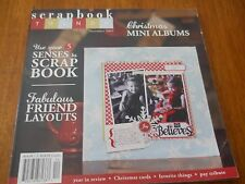 Scrapbook Trends Christmas Mini Albums Book December 2009--NEW X