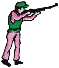 Hunter Patch  Hunter figure with rifle Iron-on patch