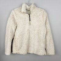 TIME AND TRU Oatmeal Sherpa Fleece Pullover SMALL NWT X184