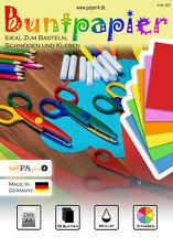 Buntpapier Bastelpapier Farbiges Papier DIN A4 36 Blatt - 6 Farben #1002