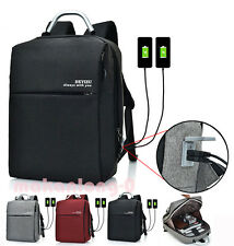 2 USB Charger Ports Anti-theft Unisex Laptop Notebook Backpack Travel School Bag