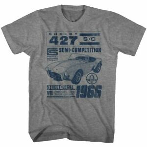 Shelby T-Shirt 1966 427 V8 Graphite Heather Tee