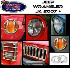 Stainless 19 Pc Euro Light Guard Set Jeep Wrangler JK 2007-2016 12496.10