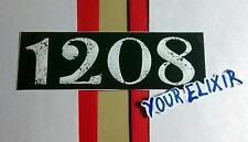 1208 BLACK & WHITE GUITAR CASE AMP BOARD RARE MUSIC STICKER