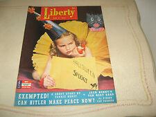 1941 Liberty Walter Brooks, Mr. Ed, Fannie Hurst, Pro Football, Jack Benny