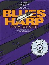 Blues Harp From Scratch Learn to Play Harmonica Mouth Organ Music Book & CD EASY