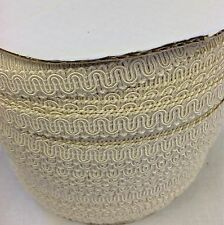 20 yds 5/8 Ivory White Scroll Gimp Trim shade Sewing Upholstery Crafts Rayon