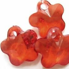 30 Piezas 12mm acrílico flor encanto granos-Rojo-a5122
