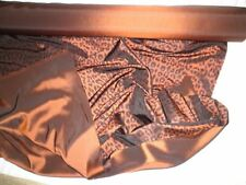 5 yards LEOPARD PRINT - Burnt Orange/Rust - Reversible Satin Fabric - Silk Silky