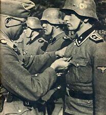 WWII B&W Photo German Iron Cross Ceremony Wehrmacht World War Two   WW2 /2082