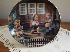 "Hummel Plate ""Back to School"" by Danbury Mint Plate No Wx5813 - 8"""