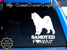 Samoyed PARENT(S) - Vinyl Decal Sticker / Color Choice - HIGH QUALITY