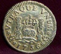 1736 6/5 Mexico SPANISH COLONY 1/2 Real KM# 65