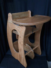 3 in 1 Combo Highchair w/Tray, Rocker, Desk  Solid Oak Kids Toy Provincial Stain
