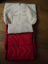 Woolibaloo Lambswool/Sheepskin Baby Footmuff in Red fits Bugaboo Cameleon 1/2